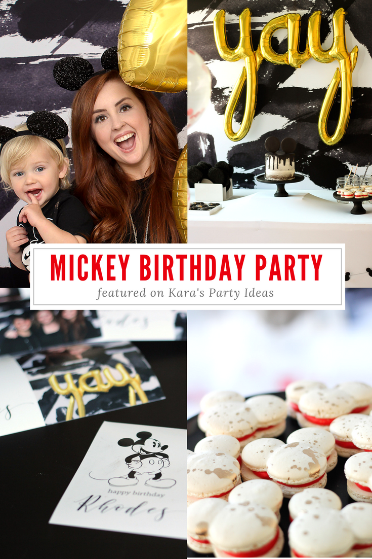 Mickey Bash Booth Kara's Party Ideas