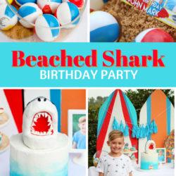 Shark Party Kara's Party Ideas Bash Booth